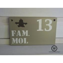 Naambord familie Mol