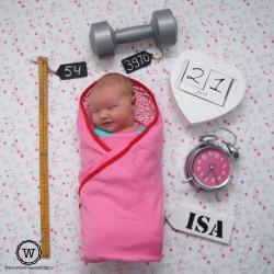 Naamlabel voor geboortekaartje