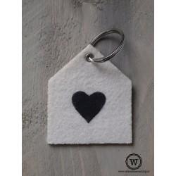 Vilten sleutelhanger hart
