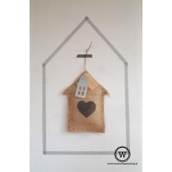 Jute huisje hart