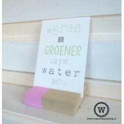 Fotoblokje grey wash roze