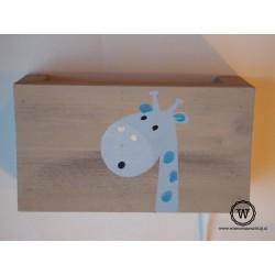 wandlamp blauwe giraf