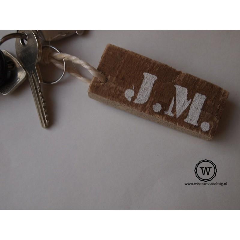 Sleutelhanger met initialen