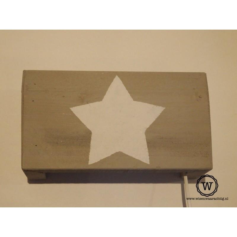 Wandlamp ster wit