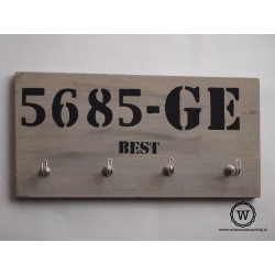 Kapstok nummerbord