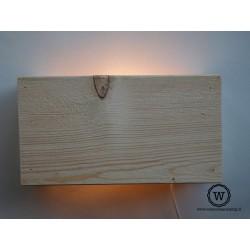 Wandlamp steigerhout blank