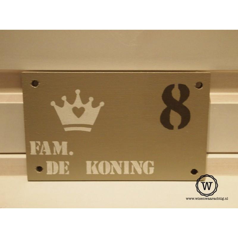 Naambord familie de Koning