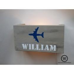 Wandlamp vliegtuig
