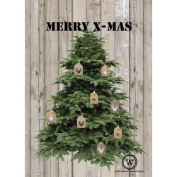 Set Kerstkaarten Kerstboom 10 Stuks Gratis Verzending