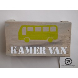 Wandlamp bus lime