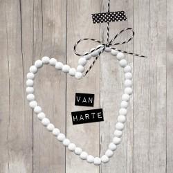 Wenskaart kralen hart