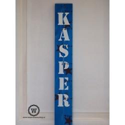 Groeimeter met naam blauw