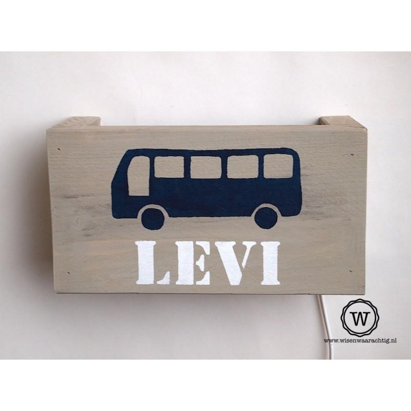 wandlamp bus blauw