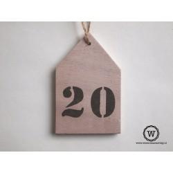 Houten huisnummer huis