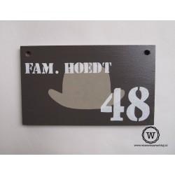 Naambord familie Hoedt