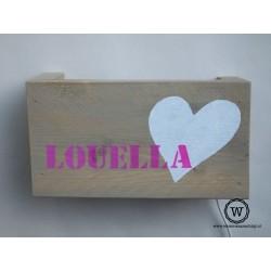 Wandlamp hart Louella