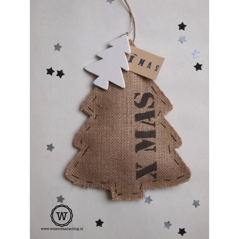 Jute kerstboom X MAS