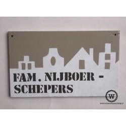 Naambord familie Schoot