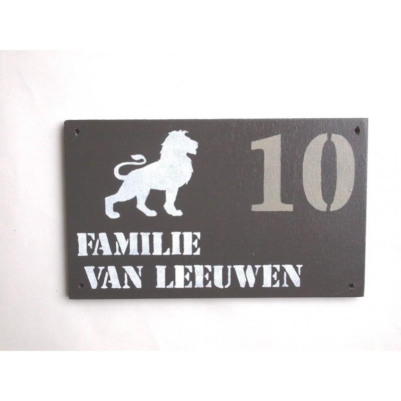 Naambord familie van Leeuwen