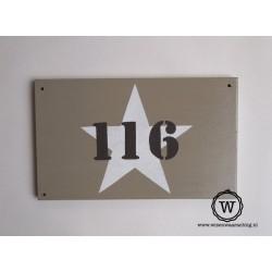 Naambord huisnummer ster
