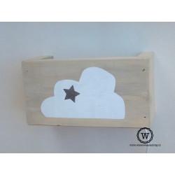 Wandlamp wolk met ster