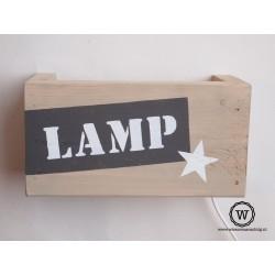 Wandlamp eigen tekst