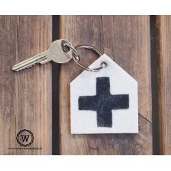 Vilten sleutelhanger kruis