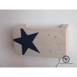 Wandlamp ster blauw