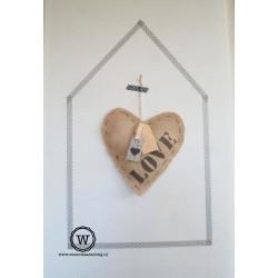 Jute hart LOVE
