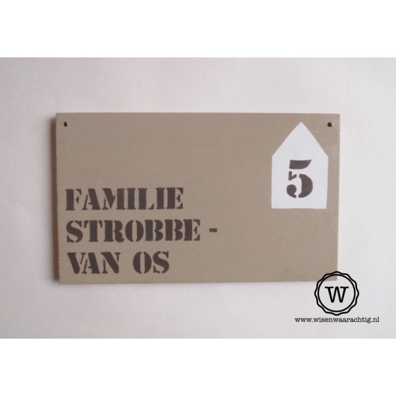 Naambord familie Steenwijk