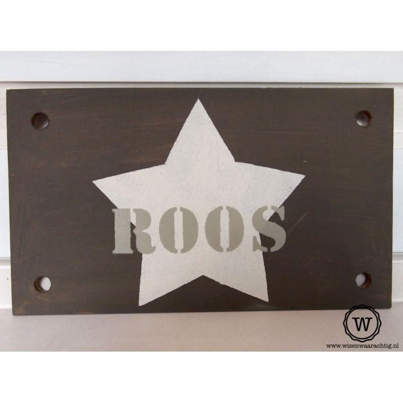 Naambord Roos
