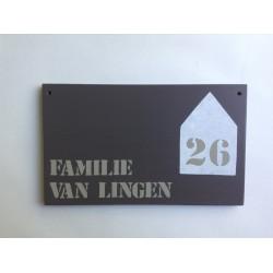 Naambord familie Wassenaar