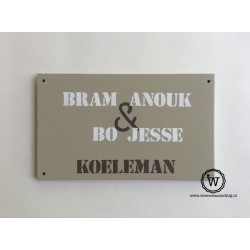 Naambord familie Koeleman