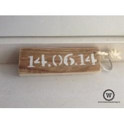 Sleutelhanger datum