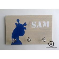 Kapstok giraf blauw