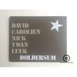 Naambord familie Doldersum