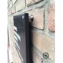 Naambord voordeur met huisnummerlabel zwart