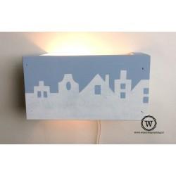 Wandlamp huisjes licht blauw