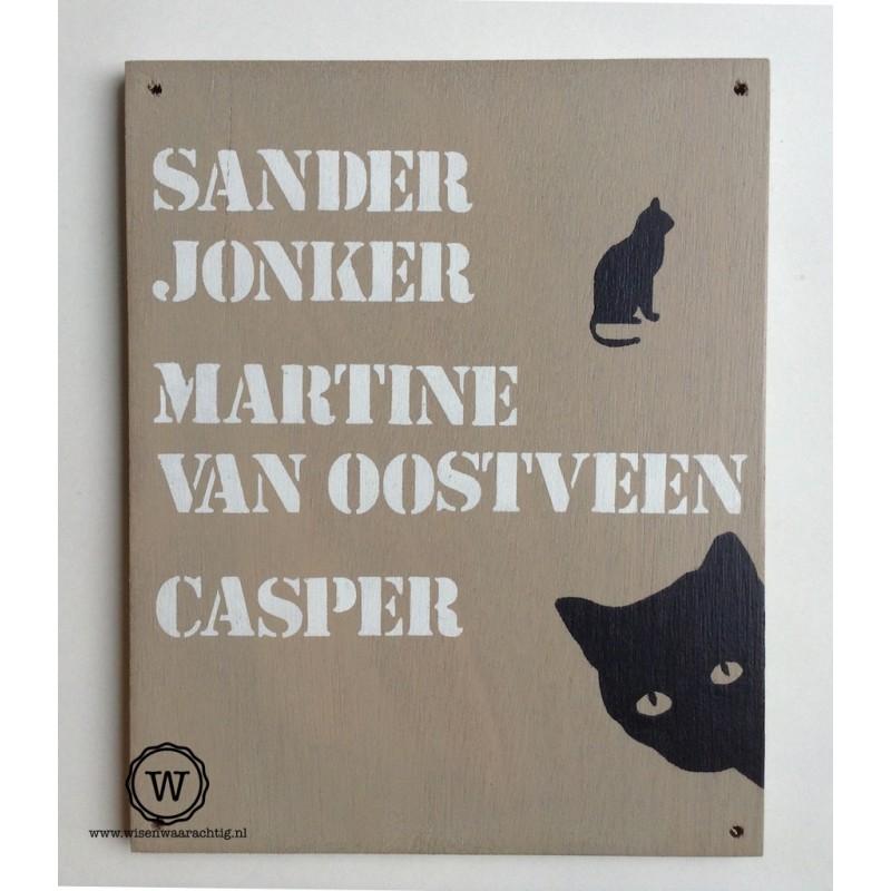 Naambord katten