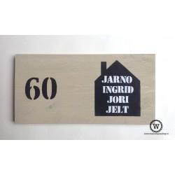 Naambord steigerhout huis