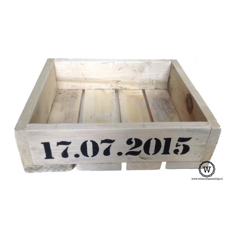 Opbergbak klein datum