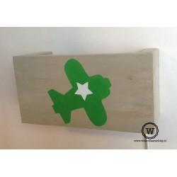 wandlamp vliegtuig groen