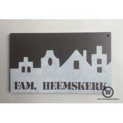 Naambord familie Heemskerk