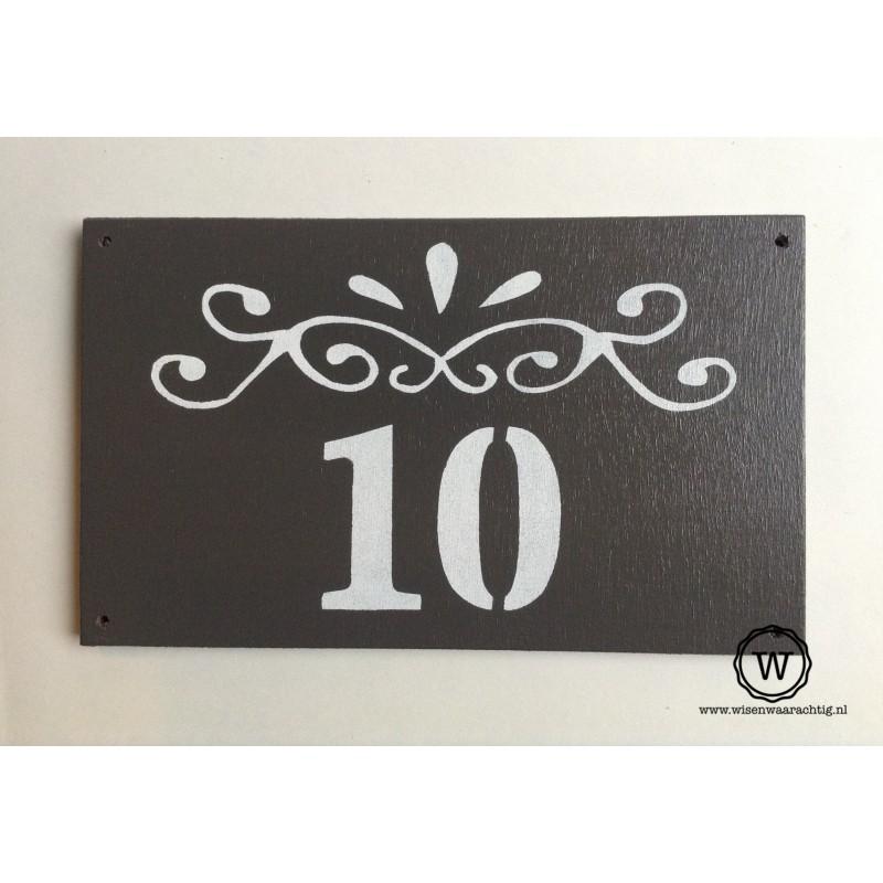 Naambord ornament huisnummer