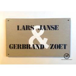 Naambord familie Janse Zoet