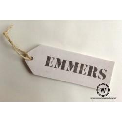 Naambord label familie Emmers