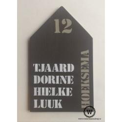 Naambord huis Familie Hoeksema