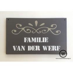 Naambord familie van der Werf