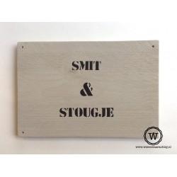 Naambord steigerhout bedrijfsnaam