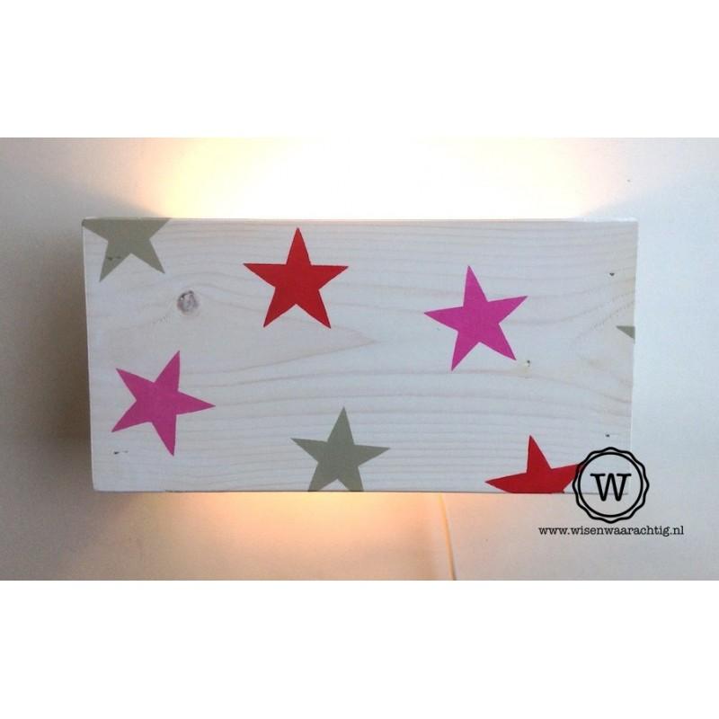 Wandlamp wit sterren